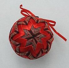 Dekorácie - Vianočná guľa - 7,5 cm - 8514020_