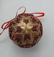 Dekorácie - Vianočná guľa - 7,5 cm - 8514034_