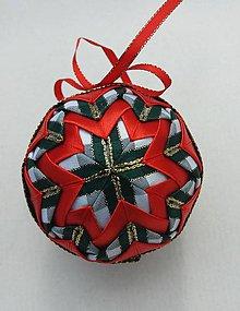 Dekorácie - Vianočná guľa - 7,5 cm - 8514042_