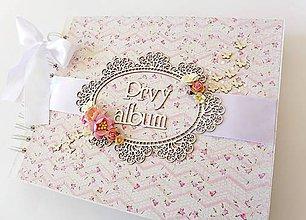 Papiernictvo - album na fotografie pre dievčatko - 8512103_