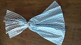 Úžitkový textil - Závesy šedomodrý cik cak - 8513172_