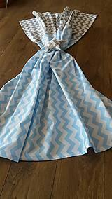 Úžitkový textil - Závesy šedomodrý cik cak - 8513173_