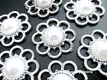Galantéria - Aplikácia ozdobná s perličkou 27 mm - 8512818_
