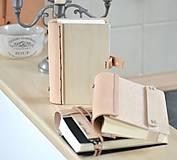Papiernictvo - zápisník - kombinácia drevo + koža WOODI NATUR - 8513397_