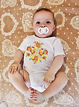 Detské oblečenie - Detské body potlač kohútiky - 8514119_