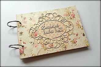 Papiernictvo - Vintage scrapbook svadobná kniha hostí A5 - 8512621_