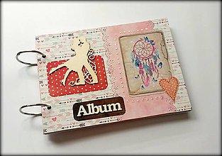 Papiernictvo - Vintage svadobný scrapbook album/ kniha hostí A5 - 8512639_
