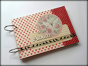 Papiernictvo - Svadobný vintage scrapbook album A5 - 8513655_