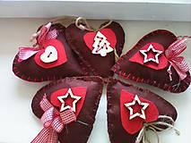 Dekorácie - Perníčkové voňavé vianočné srdiečka - 8512582_