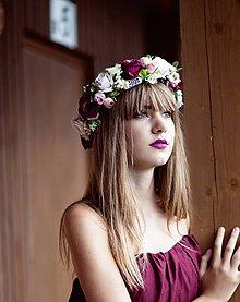 """Ozdoby do vlasov - Kvetinový venček """"V objatí ruží"""" - 8512083_"""