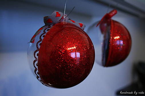 ČERVENÁ vianočná gula s 3D fotkou   Vidu - SAShE.sk - Handmade Dekorácie 041e4111d56