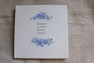 Obrazy - modrotlačová výšivka - obrázok na stenu - 8512094_