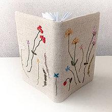 Papiernictvo - Zápisník Lúčne kvety - herbár - A6 - 8512564_