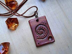 Náhrdelníky - Amulet medený - 8513914_