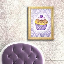 Grafika - Čučoriedkový koláčik elegant - 8513089_