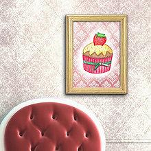 Grafika - Jahodový koláčik elegant - 8513093_