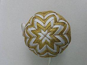 Dekorácie - Vianočná guľa - 10 cm - 8514487_