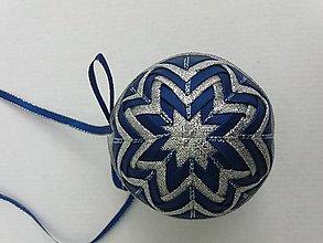 Dekorácie - Vianočná guľa - 7,5 cm - 8514575_