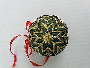 Dekorácie - Vianočná guľa - 7,5 cm - 8514593_
