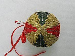 Dekorácie - Vianočná guľa - 7,5 cm - 8514599_