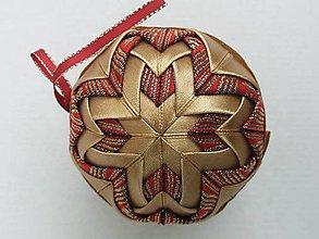Dekorácie - Vianočná guľa - 7,5 cm - 8514613_