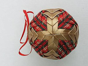 Dekorácie - Vianočná guľa - 7,5 cm - 8514620_