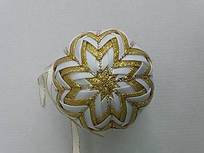 Dekorácie - Vianočná guľa - 7,5 cm - 8514641_