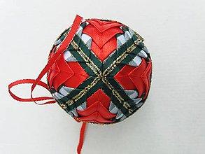 Dekorácie - Vianočná guľa - 7,5 cm - 8514647_