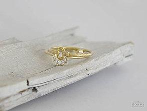 Prstene - 585 / 14k zlatý komplet prsteňov kľúč a mesiac - 8516921_