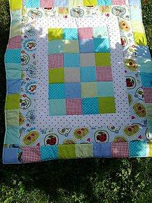 Úžitkový textil - Patchwork deka chlapčenská - 8515493_