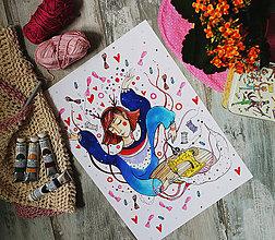 Grafika - Slečna Ľubka medúzová/A3 formát - 8515531_