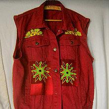 Iné oblečenie - Riflová červená - 8516132_