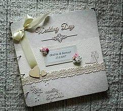 Papiernictvo - Veľký luxusný svadobný fotoalbum - 8517169_