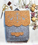 Batohy - Ľudový korkový batôžtek - 8514240_