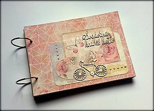 Papiernictvo - Vintage scrapbook svadobná kniha hostí A5 - 8514588_