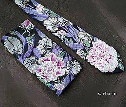 Doplnky - Zladenie pivonkové- vreckovka a hodvábna kravata - 8515130_