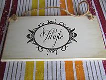 Tabuľky - Tabuľka VITAJTE - 8515882_