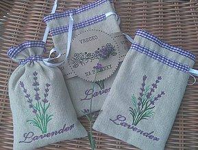 Úžitkový textil - Na sušenú levanduľku... - 8516171_