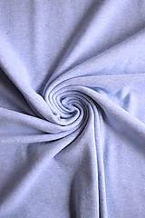 Textil - Bio bavlněný finerib ( patent ) GOTS – modrý melír - 8515169_