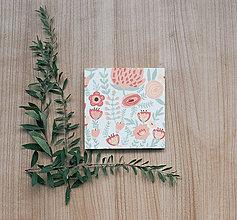 Papiernictvo - Leporelo 13x13 ,,Marhuľkové kvetinky,, - 8515028_