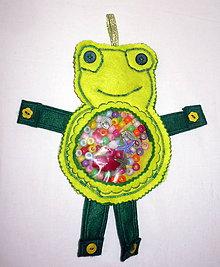 Hračky - Úchopové vrecko - žabka /spy bag/ - 8516064_