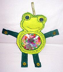 Hračky - Úchopové vrecko - žabka /spy bag/ - 8516071_