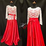 Šaty - Spoločenské šaty (sukňa a top) - 8515046_