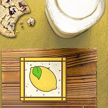 Dekorácie - Stracciatella potlač na koláčik ovocná edícia (citrón) - 8514309_