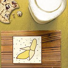 Dekorácie - Stracciatella potlač na koláčik ovocná edícia (banán) - 8514312_
