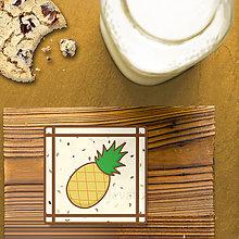 Dekorácie - Stracciatella potlač na koláčik ovocná edícia (ananás) - 8514313_