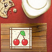 Dekorácie - Stracciatella potlač na koláčik ovocná edícia (čerešne) - 8514314_