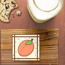 Dekorácie - Stracciatella potlač na koláčik ovocná edícia (marhuľa) - 8514315_