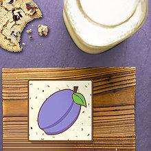Dekorácie - Stracciatella potlač na koláčik ovocná edícia (slivka) - 8515646_