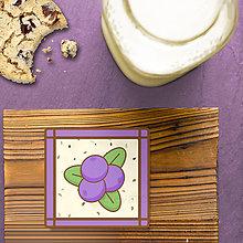 Dekorácie - Stracciatella potlač na koláčik ovocná edícia (čučoriedka) - 8515652_